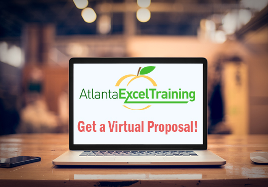 Get a virtual proposal from Atlanta Excel Training